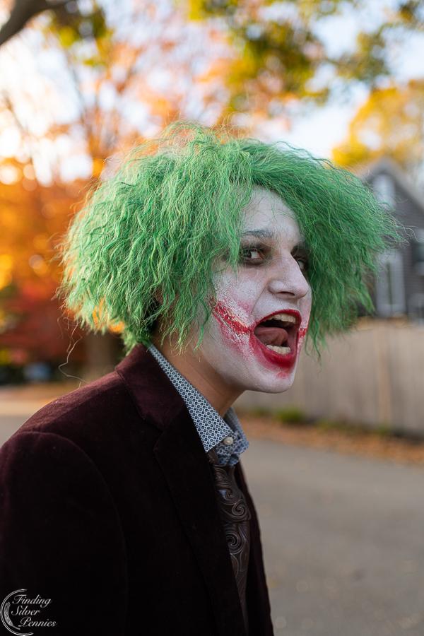 Diy Joker Halloween Costume Finding Silver Pennies