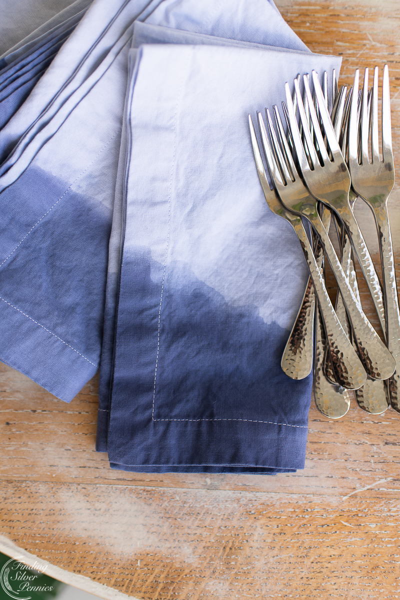 How To Dip Dye Napkins Finding Silver Pennies