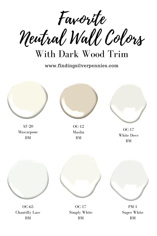 Choosing Paint Colors To Pair With Dark Wood Trim Finding Silver Pennies